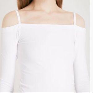 d981b0e7520 Helmut Lang Tops - Helmut Lang White Long Sleeve Off Shoulder Top